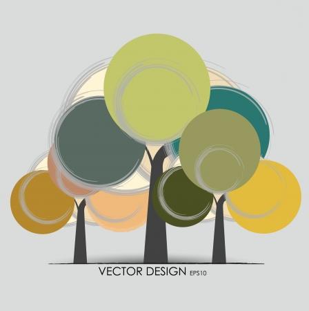 Abstract tree. Vector illustration. Stock Vector - 14927405