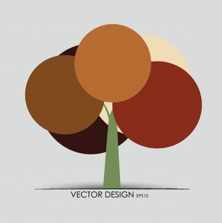 Abstract tree. Vector illustration. Stock Vector - 14927376