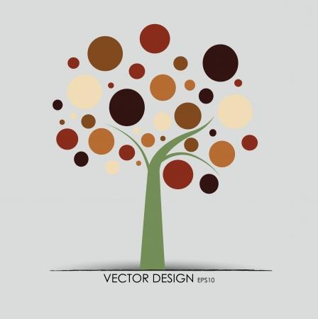 albero stilizzato: Albero astratto. Illustrazione vettoriale.