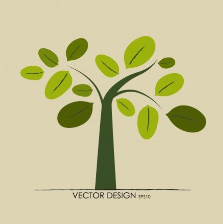 olijf: Abstracte boom. Vector illustratie.
