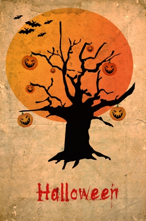 Grunge halloween background photo