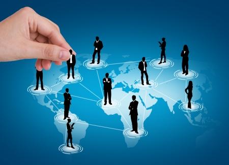 Hand pick man of Social Network