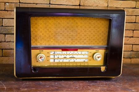 Vintage fashioned radio photo