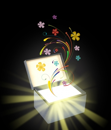 Magic gift box Stock Photo - 14943846
