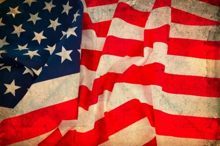 american flag fireworks: Vintage flag USA