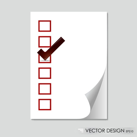 Sheet of paper  Paper page with curl Vector