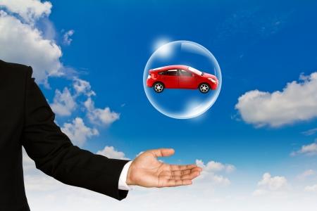 Új autó koncepció Stock fotó