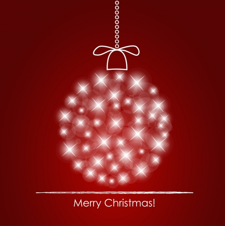 Christmas background with christmas ball illustration