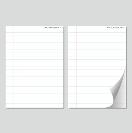 Collection of white papers, ready for your message  Stock Vector - 15499533