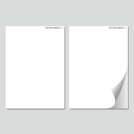 Collection of white papers, ready for your message   Vector