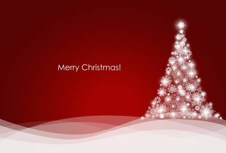 the christmas cards: Christmas background with Christmas tree