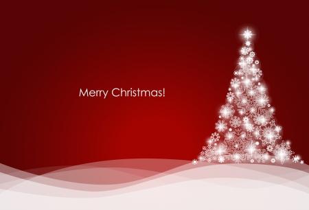 luz roja: De fondo de Navidad con �rbol de Navidad