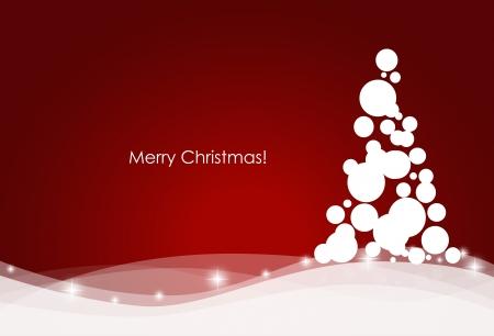 De fondo de Navidad con el árbol de navidad, ilustración vectorial.