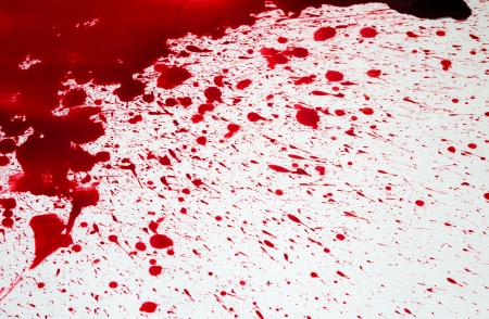 Halloween concept : Blood splatter Stock Photo