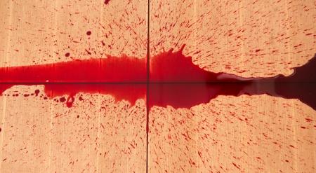 halloween concept: Halloween concept : Blood splatter Stock Photo