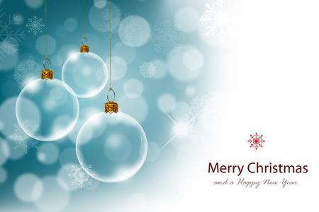 Boże Narodzenie z Transparent Christmas ball Zdjęcie Seryjne