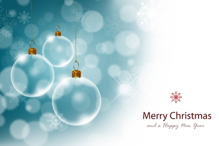 Christmas background with Transparent Christmas ball