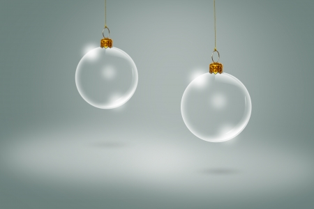 Transparent Christmas ball photo
