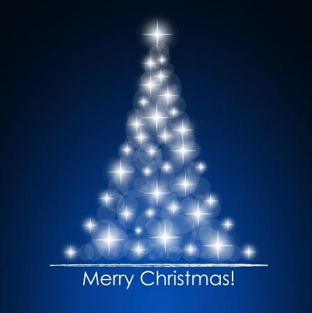 estrellas de navidad: De fondo de Navidad con el árbol de navidad, ilustración vectorial.