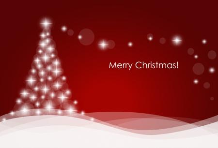Karácsonyi háttérben karácsonyfa, vektoros illusztráció.