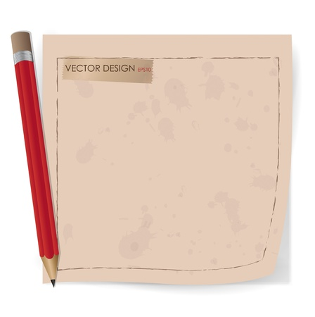 Collection of various vintage note papers, ready for your message. Vector illustration. Stock Vector - 15437097
