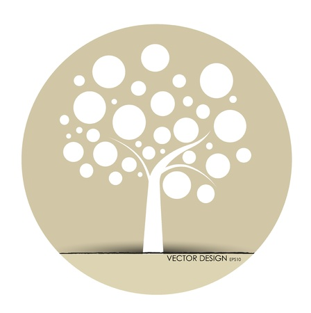 Árbol abstracto. Vector Illustration.