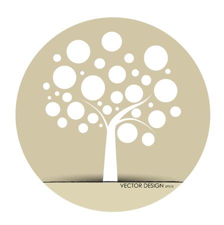 un arbre: Arbre abstrait. Illustration Vecteur.