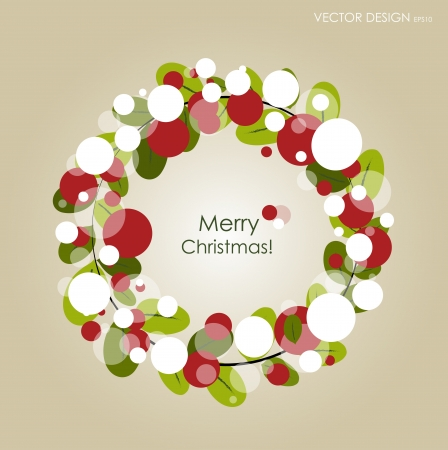 Merry Christmas Greeting Card Stock Vector - 15868441