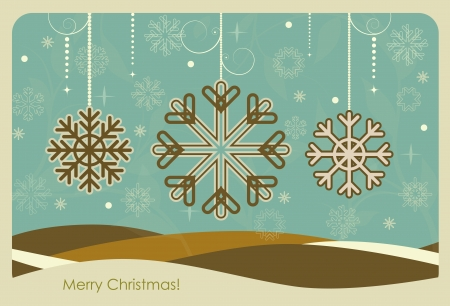 Merry Christmas Greeting Card, vector illustration Stock Vector - 15868466