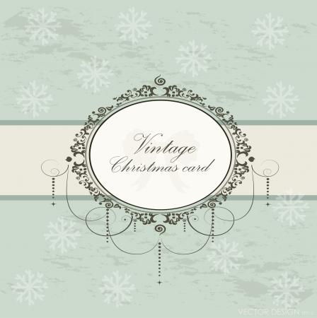 Merry Christmas Greeting Card, vector illustration. Vector