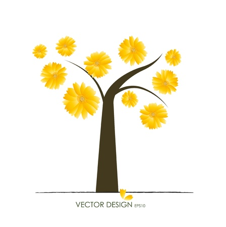 leafage: Abstract tree. Vector illustration.