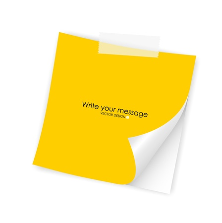 stick note: Note paper, ready for your message  Vector illustration
