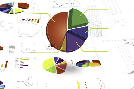 share prices: Business graph Stock Photo