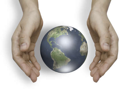 Two hands with earth  photo