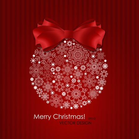Christmas background with christmas ball illustration  Vector