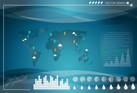 Set elements of infographics  World Map and Information Graphics  Vector illustration Stock Vector - 16062208