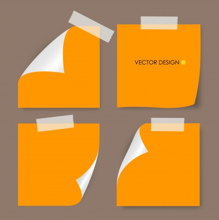 post: Collection of various papers, ready for your message  Vector illustration