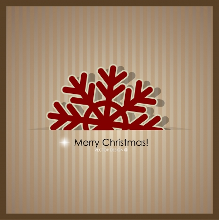 Merry Christmas Greeting Card, illustration  Vector
