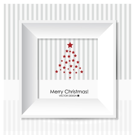 Merry Christmas Greeting Card with Christmas tree, illustration  Stock Vector - 16210009