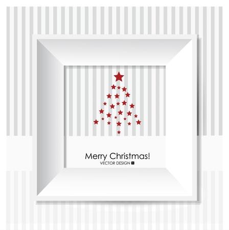 x mas: Merry Christmas Greeting Card with Christmas tree, illustration