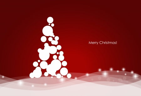 Christmas background with Christmas tree, illustration  Vector