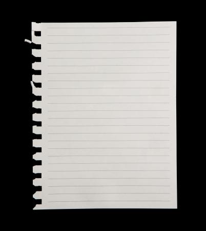 Weißes Papier auf schwarzem Hintergrund