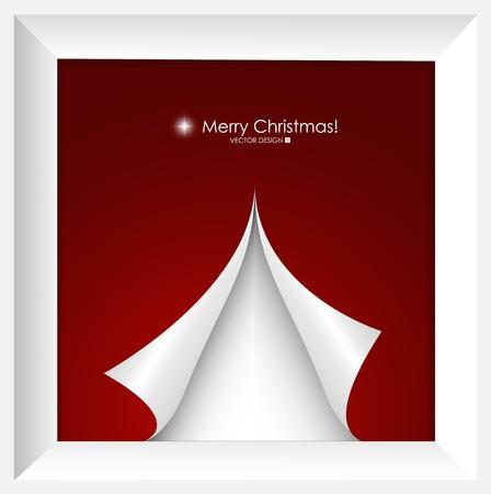 x mas card: Merry Christmas Greeting Card with Christmas tree