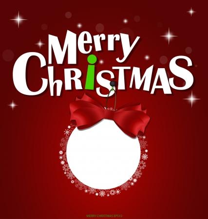 x mas: Merry Christmas greeting card