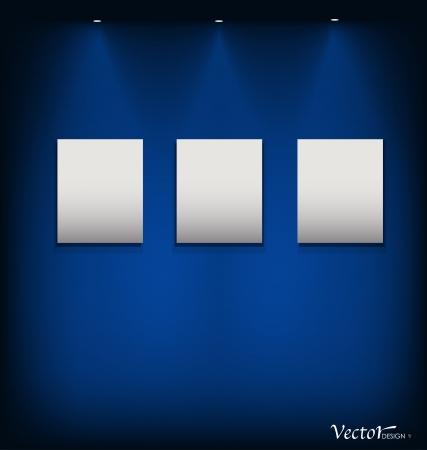 album background: White modern frames on the wall