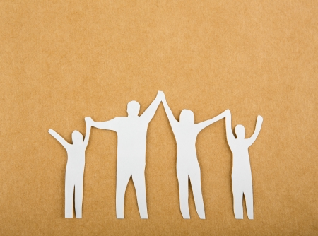 cut paper: Paper cut of Family