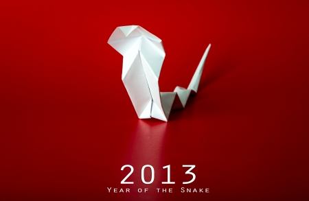 2013 New Year with true paper snake photo