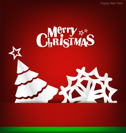Merry Christmas greeting card with Christmas decoration Stock Vector - 16690410