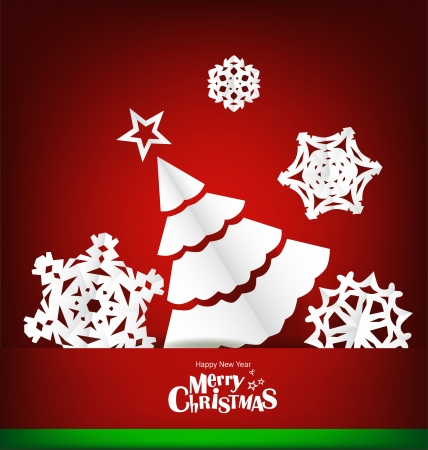 Merry Christmas greeting card with Christmas decoration Stock Vector - 16690430