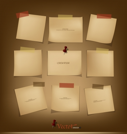 message vector: Collection of Vintage paper, ready for your message. Vector illustration.